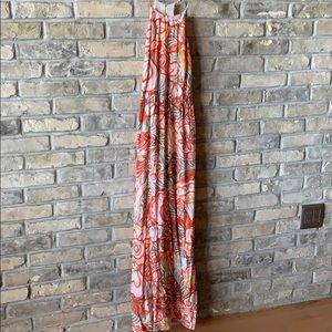 Ann Taylor LOFT multicolor floral maxi dress